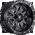 20x12 5x4.5/5x5 4.75BS D627 Vandal Gloss Black Milled - Fuel Off-Road