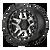 17x9 6x5.5 4.53BS XD140 Recon Satin Black Machined - XD Wheels