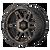 20x9 6x120 5.71BS XD840 Spy II Satin Black w/Dark Tint - XD Wheels