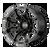 20x10 8x6.5 4.79BS XD841 Boneyard Gloss Black Milled - XD Wheels
