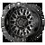 20x9 6x5.5/6x120 5BS XD842 Snare Gloss Black w/Grey - XD Wheels
