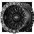 20x9 5x5.5/5x150 5.71BS XD842 Snare Satin Black - XD Wheels
