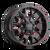 20x9 6x5.5/6x135 5BS 8015 Warrior Black w/Prism Red - Mayhem Wheels