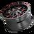 17x9 8x6.5/8x170 5.71BS 8015 Warrior Black w/Prism Red - Mayhem Wheels