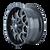 17x9 5x5/5x5.5 4.53BS 8015 Warrior Black Milled Spokes - Mayhem Wheels