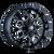 17x9 5x5/5x5.5 5.71BS 8015 Warrior Black Milled Spokes - Mayhem Wheels