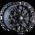 17x9 5x5/5x5.5 4.5BS 8015 Warrior Matte Black - Mayhem Wheels