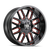20x12 8x6.5/8x170 4.49BS 8107 Cogent Gloss Black/Milled Spokes w/Prism Red - Mayhem Wheels