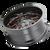 20x9 6x5.5/6x135 5BS 8107 Cogent Gloss Black/Milled Spokes w/Prism Red - Mayhem Wheels