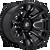 18x9 8x180 5BS D673 Blitz Gloss Black Milled - Fuel Off-Road