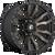 17x9 8x6.5 5BS D674 Blitz Matte Black DDT - Fuel Off-Road