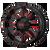 20x10 8x6.5 4.79BS XD838 Mammoth Gloss Blk Mil w/Red - XD Wheels