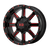 22x10 8x180 5.97BS XD838 Mammoth Gloss Blk Mil w/Red - XD Wheels