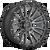 20x10 8x6.5 4.75BS D680 Rebel Matte Gunmetal Black - Fuel Off-Road