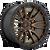 18x9 6x4.5 5.75BS D681 Rebel Matte Bronze Black - Fuel Off-Road
