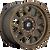 18x9 5x5 4.5BS D671 Tech Matte Bronze - Fuel Off-Road