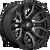 20x9 6x5.5/6x135 5.04BS D711 Rage Black/Milled - Fuel Off-Road