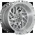 22x12 8x170 4.81BS D715 Triton Platinum Gunmetal - Fuel Off-Road