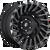 18x9 6x5.5 4.53BS D683 Cyclone Black/Machined - Fuel Off-Road