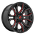 20x9 5x5/5x5.5 5.04BS D712 Rage Gloss Black Red Tinted - Fuel Off-Road