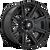 20x10 8x6.5 4.79BS D708 Rogue Gloss Black Machined - Fuel Off-Road