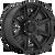 20x9 6x135 5.04BS D709 Rogue Matte Black - Fuel Off-Road