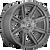20x10 6x5.5 4.79BS D710 Rogue Platinum Brushed Gunmetal - Fuel Off-Road