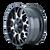 18x9 5x4.5/5x5 4.53BS 8015 Warrior Black/Machined - Mayhem Wheels