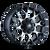 18x9 8x180 5.75BS 8015 Warrior Machined Face w/Black - Mayhem Wheels