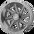22x10 6x5.5 4.71BS AB814NL Windmill Brushed Titanium - Asanti Off-Road Wheels