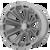 22x12 5x5 4.93BS AB813 Cleaver Brushed Titanium - Asanti Off-Road Wheels