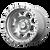 17x8 6x120 5.48BS XD132 RG2Machined - XD Wheels