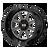 22x12 6x135 4.77BS XD844 Pike Gloss Black - XD Wheels