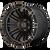 20x10 8x180 4.79BS XD846 Double Satin Black With Dark Tint - XD Wheels