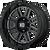 20x9 8x180 5BS XD857 Grenade Gloss Black Milled - XD Wheels