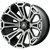 22x12 8x170 4.93BS AB813 Cleaver Brushed Black - Asanti Off-Road Wheels