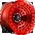 17x9 6x135 4.41BS D100 Zephyr Candy Red True Beadlock - Fuel Off-Road