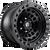 17x9 5x150 4.41BS D101 Zephyr Matte Black True Beadlock - Fuel Off-Road