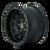 17x9 5x5 4.45BS Roadkill 9302 Matte Black/Black - Dirty Life Wheels