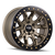 17x9 8x6.5 4.53BS DT-1 9303 Gold W/Simulated Ring - Dirty Life Wheels