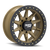 17x9 8x6.5 4.53BS DT-2 9304 Gold W/Simulated Ring - Dirty Life Wheels