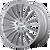 20x10 5x4.75 7.07BS AR934 Fastlane Brushed Silver - American Racing