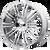 20x8.5 5x4.5 6.13BS D2 Chrome - American Racing