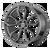 22x10 5x4.75 7.32BS AR932 Splitter Grahite - American Racing