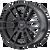 20x8.5 5x108 6.13BS AR937 Pivot Satin Black - American Racing
