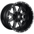 22x10 8x6.5 5.89BS D538 Maverick Matte Black Milled - Fuel Off-Road