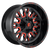 20x9 6x5.5/6x120 5.75BS D612 Stroke Gloss Red - Fuel Off-Road