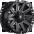 22x10 6x5.5/6x135 4.75BS D616 Contra Matte Black Milled - Fuel Off-Road