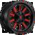 15x8 6x5.5 3.79BS D621 Hardline Gloss Black w/Red Tint - Fuel Off-Road