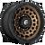 17x9 5x5 4.53BS D634 Zephyr Matte Bronze - Fuel Off-Road